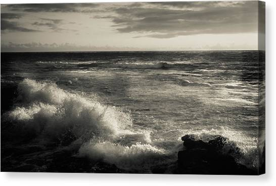 Canvas Print featuring the photograph Sunset - La Jolla Cove by Samuel M Purvis III