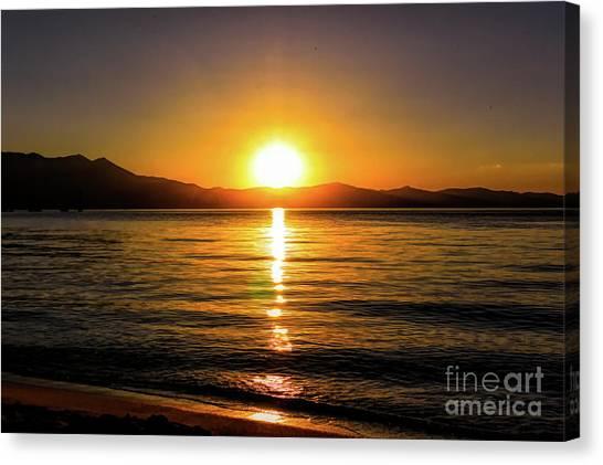 Sunset Lake 1 Canvas Print