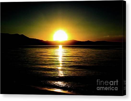 Sunset Lake 2 Canvas Print