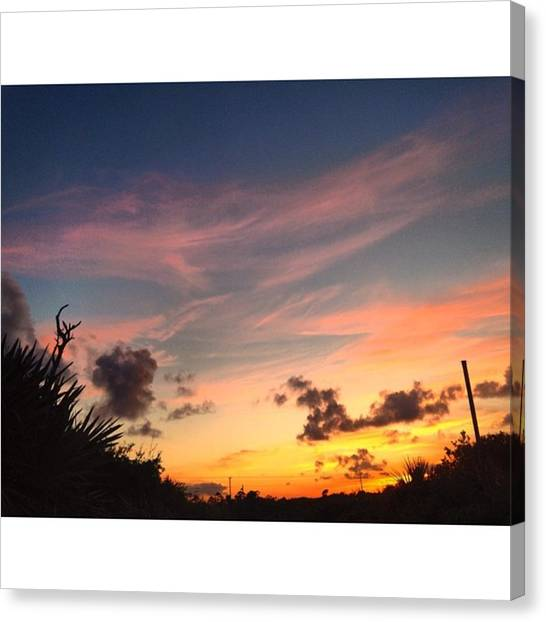 Jupiter Canvas Print - #sunset Last Night In #tequesta. Having by Alice Waters