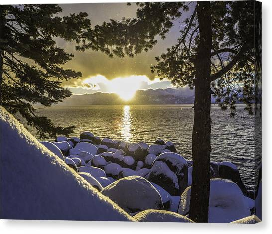 Sunset Light Lake Tahoe Canvas Print