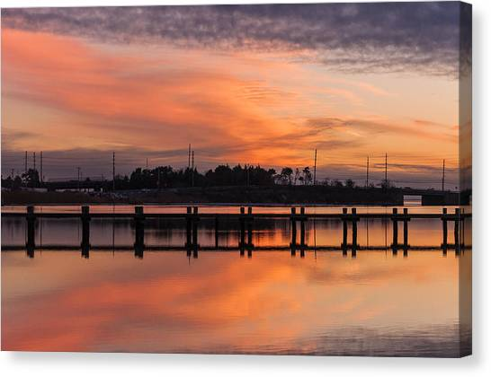 Seaside Heights Canvas Print - Sunset Lines by Kristopher Schoenleber