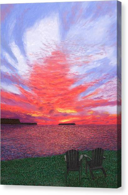 Sunset Lovers Canvas Print