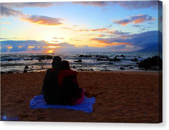 Canvas Print - Sunset Lovers by Michael Rucker