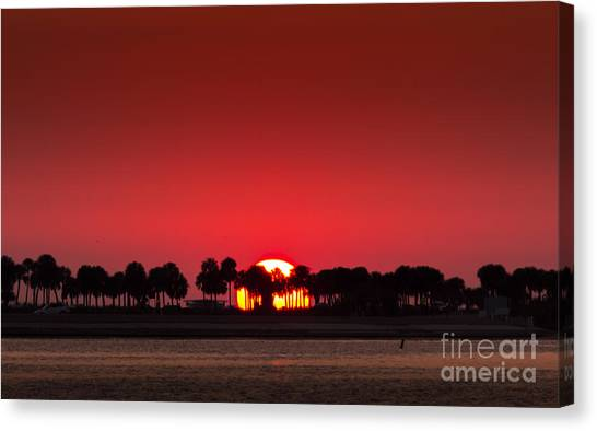Thunder Bay Canvas Print - Sunset by Marvin Spates