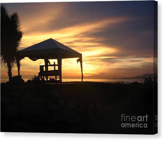 Sunset Massage Canvas Print