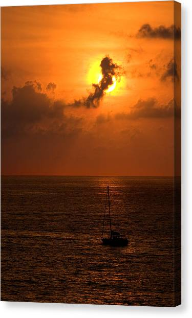 Sunset Mexico Canvas Print by Xavier Cardell