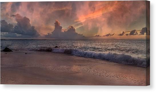 Ocean Sunsets Canvas Print - Sunset Movie  by Betsy Knapp