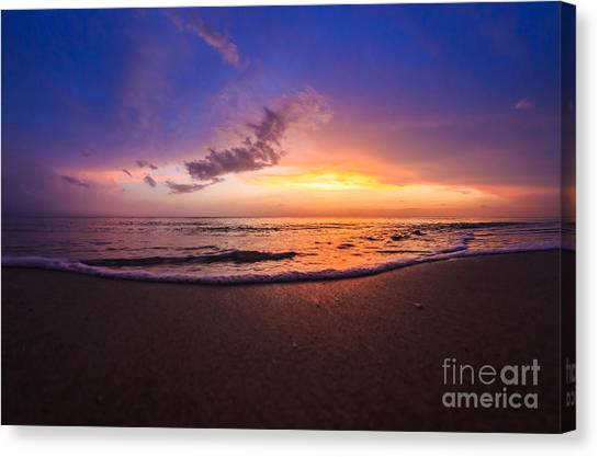 Sunset Naples Beach Florida Canvas Print