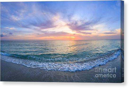 Sunset Naples Fl Canvas Print