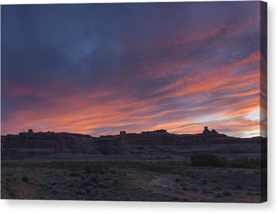 Sunset Near Court House Wash Canvas Print