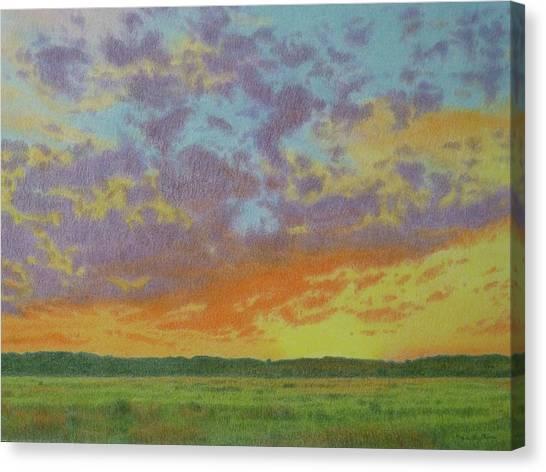 Sunset Near Miles City Canvas Print
