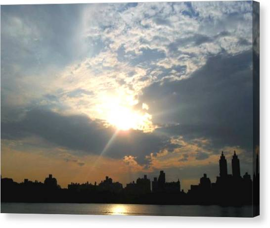 Sunset New York  Canvas Print