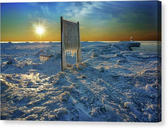Sunset Of Frozen Dreams Canvas Print