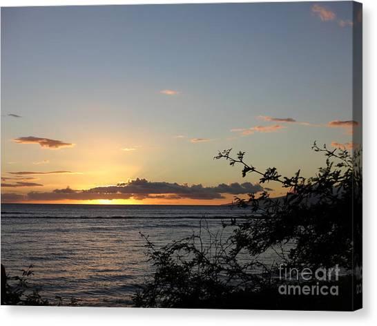 Sunset Off Lipoa Canvas Print