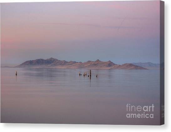 Sunset On Antelope Island Canvas Print