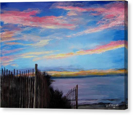 Sunset On Cape Cod Bay Canvas Print