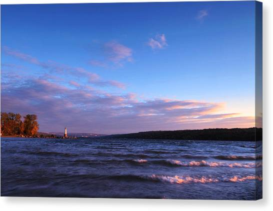 Cornell University Canvas Print - Sunset On Cayuga Lake Ithaca by Paul Ge