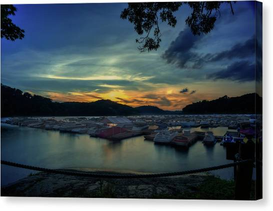 Sunset On Cheat Lake Canvas Print
