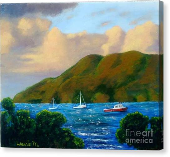 Sunset On Cruz Bay Canvas Print