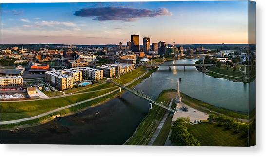 Sunset On Dayton Canvas Print