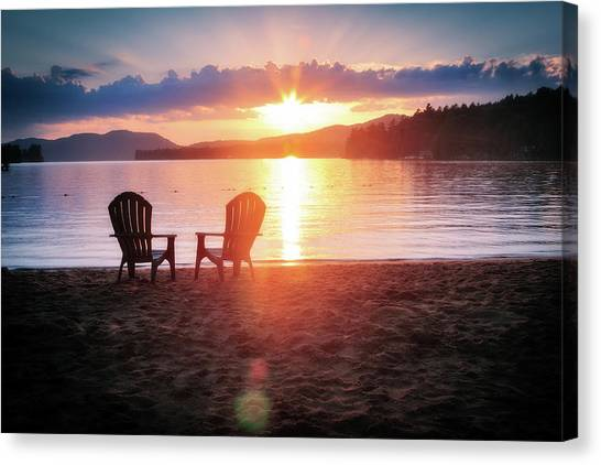 Canvas Print featuring the photograph Sunset On Fourth Lake by Christopher Meade