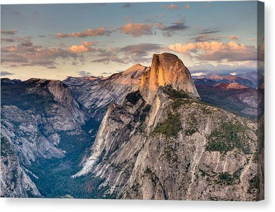 Sunset On Half Dome Canvas Print
