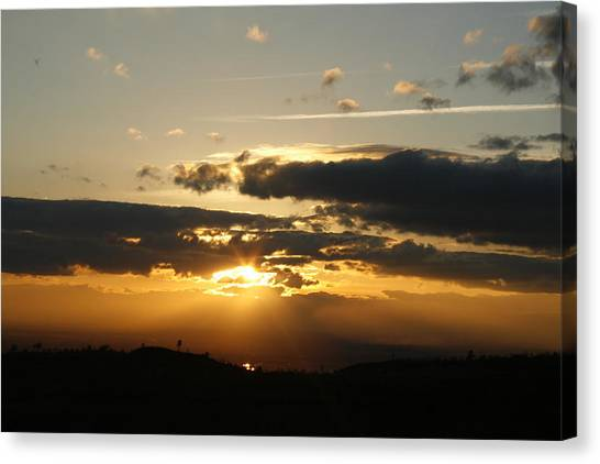 Sunset On Hwy 32 Canvas Print