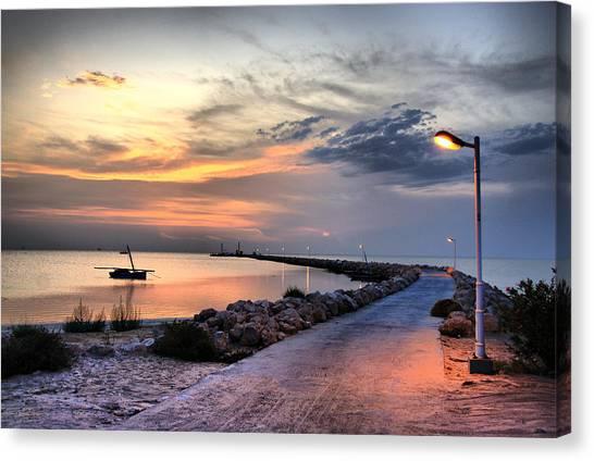 Sunset On Kerkennah Island Canvas Print by Aleksey Napolskih