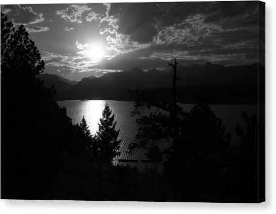 Sunset On Lake Estes Canvas Print by Perspective Imagery