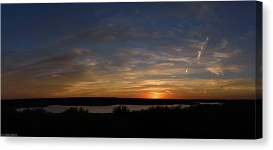 Sunset On Lake Georgetown Canvas Print