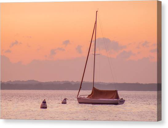 University Of Wisconsin - Madison Canvas Print - Sunset On Lake Mendota by Christopher Nelms