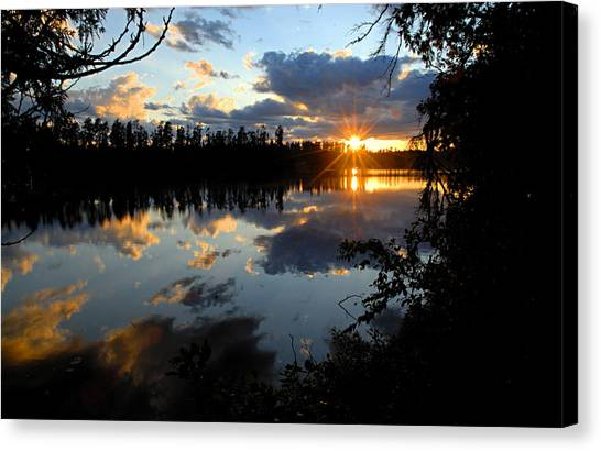Sunset On Polly Lake Canvas Print
