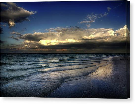 Sunset On Sanibel Canvas Print