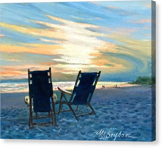 Sunset On The Beach Canvas Print