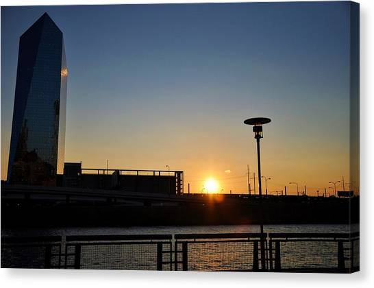 Sunset On The Cira Building Canvas Print by Andrew Dinh