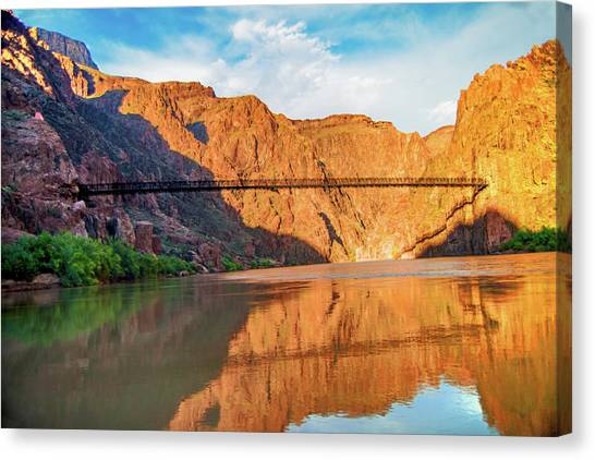 Sunset On The Colorado At Grand Canyon Canvas Print