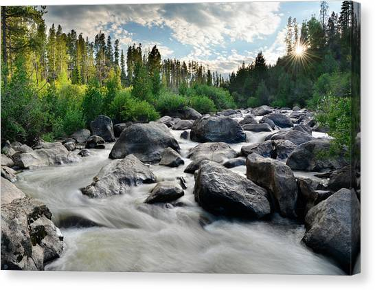 Colorado River Canvas Print - Sunset On The Colorado by Hudson Marsh