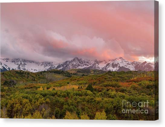 Sunset On The Dallas Divide Ridgway Colorado Canvas Print