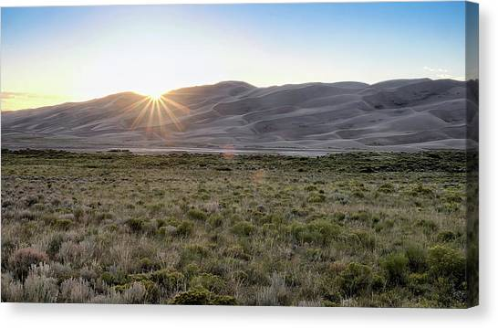Sunset On The Dunes Canvas Print