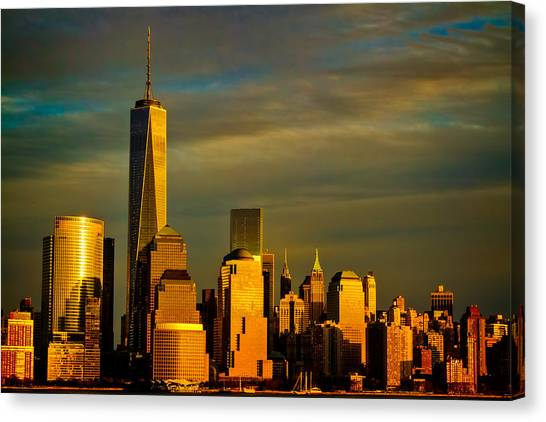 Sunset On The Financial District Canvas Print