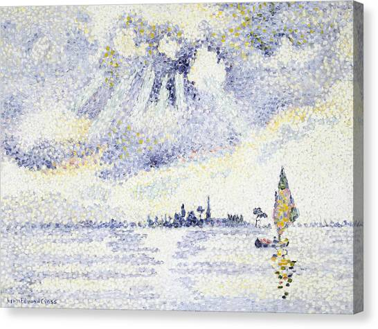 Divisionism Canvas Print - Sunset On The Lagoon, Venice by Henri-Edmond Cross