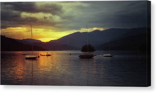 Keswick Canvas Print - Sunset On The Lake by Martin Newman