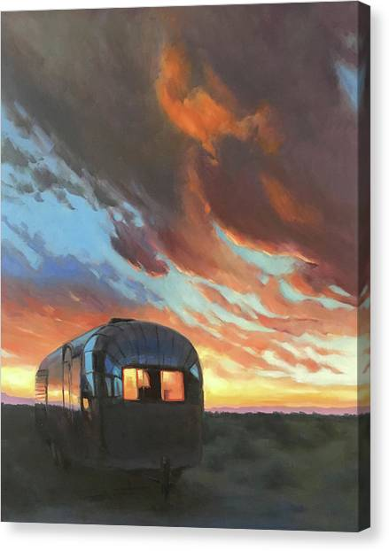 Sunset On The Mesa Canvas Print