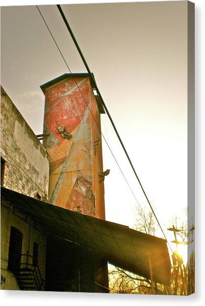 Sunset On The Mill Canvas Print