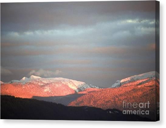 Sunset On The Monashees Canvas Print