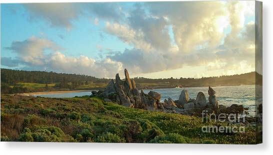 Sunset On The Pacific Ocean  Canvas Print