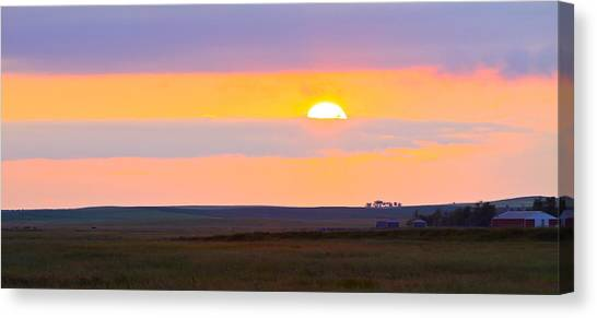 Sunset On The Reservation Canvas Print