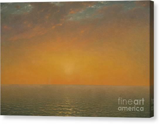 Sunset Horizon Canvas Print - Sunset On The Sea, 1872 by John Frederick Kensett