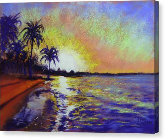 Sunset On The Sea Canvas Print